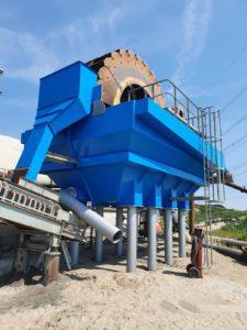 zandzeefinstallatie zandwinning industrieel conserveren schoepenwiel