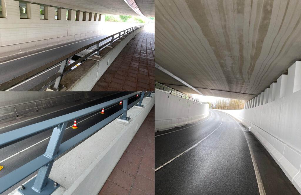 Jos Scholman schilderen putkoptunnel Harmelen